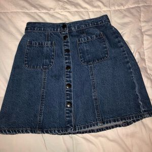 Urban Outfitters button up denim skirt
